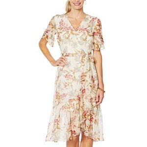 Vince Camino floral print belted dress. worn once